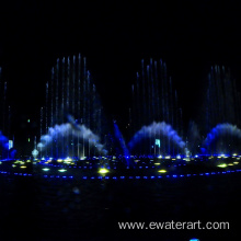 outdoor water & light show